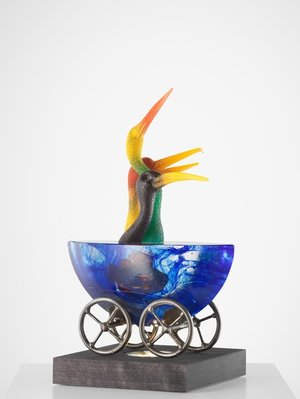 Mini-ark Birds Chatter Colored Blue - Kosta Boda