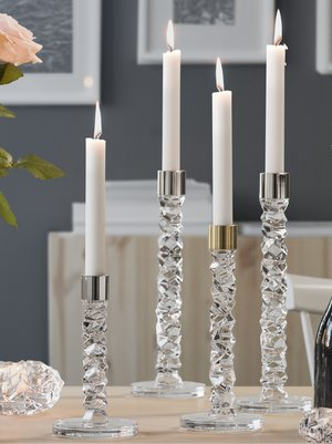 Carat Candlestick Clear Low - Orrefors