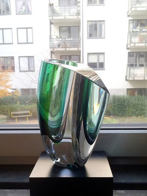 Mirage Vas Grön Blå Stor  - Kosta Boda