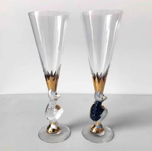 Nobel Sparkling Devil Dark Grey Glass - Orrefors Champagne