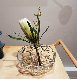 Bloom Vase Clear glass Metall  - Orrefors