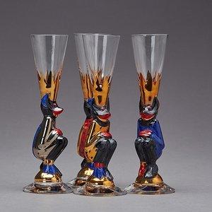 Nobel Devil Glass Red Shot Schnapps - Orrefors