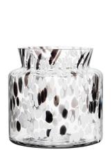 Birch Vase Black / White Wide