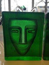 Salute Rak Ansikte Grön Block