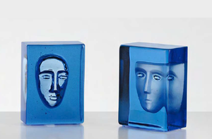 Azur Man Blå Block - Kosta Boda