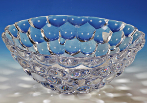 Raspberry Bowl Clear Large  - Orrefors