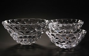 Raspberry Bowl Clear Small - Orrefors