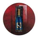 Champagne Bottle Sparkling Blue