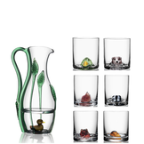 New Friends Decanter + 6-pack OF-glass