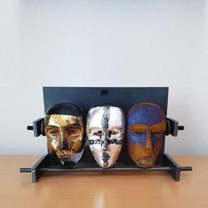 Brains Trio Huvud - Kosta Boda