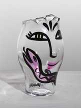 Open Minds Vase Special Clear Pink