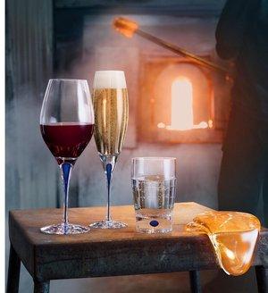 Intermezzo Blå Champagne Flute - Orrefors Champagneglas
