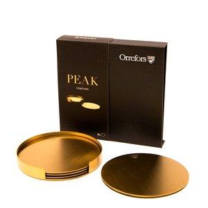 Peak Coasters Gold incl holder 4-pack - Orrefors