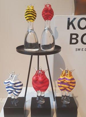 Bath Woman Red  Wood Base  - Kosta Boda Limited
