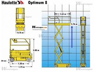Självgående saxlift ca 6-8 m