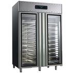 Frys 1400 liter för konditorier 60x40 cm tillverkad av rostfritt stål med glasdörrar, -10 ° / -30 ° C