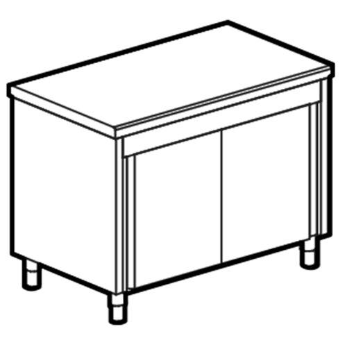Neutral enhet på slutna skåp, l 800 mm, 2x GN 1/1