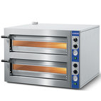 Elektrisk pizzaugn för 4 + 4 pizzor ø 30 cm, mekanisk kontroll