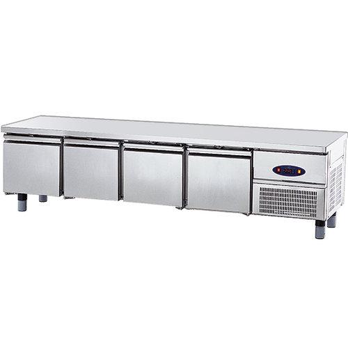 Frysbänk med 4 lådor GN 1/1 för kokplattor, w 2200 mm