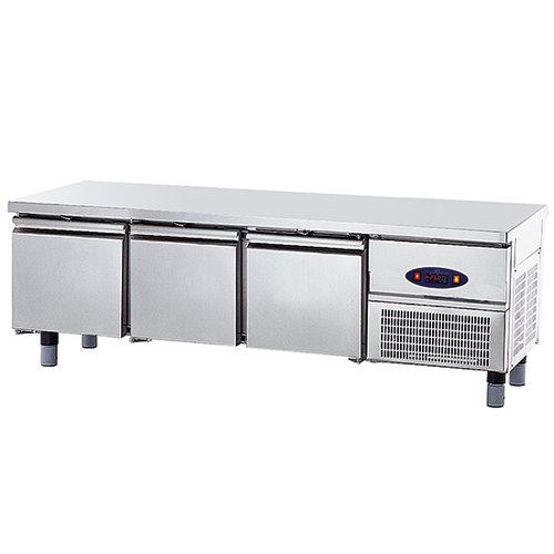 Kylbänk med 3 lådor GN 1/1 för kokplattor, w 1800 mm
