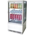 Kyld display med 3 hyllor,-bänk, 70 liter, 0 ° C / + 12 ° C, vit färg