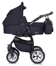Euro-Cart  Passo  2020 2-in-One Duo Kombi ( Svart) utan Bilsol Omgående leverans !