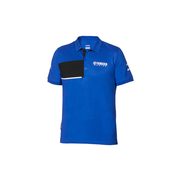 Paddock Blue Pique Polo - Herr