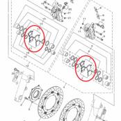 Bromsbelägg Fram Yamaha XV1900 2011-2013