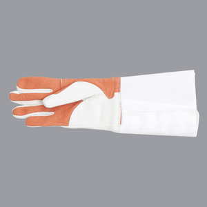 Combi glove (grey/red) for foil and epee