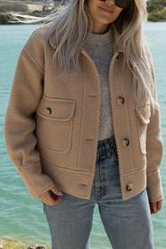 Palm Faux Fur Jacket