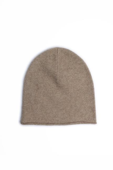 Lisa Yang - Rolled Edge Plain Knit Beanie
