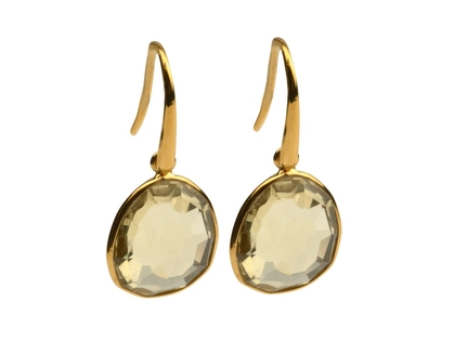 Glam Glam Earring Gold Lemon