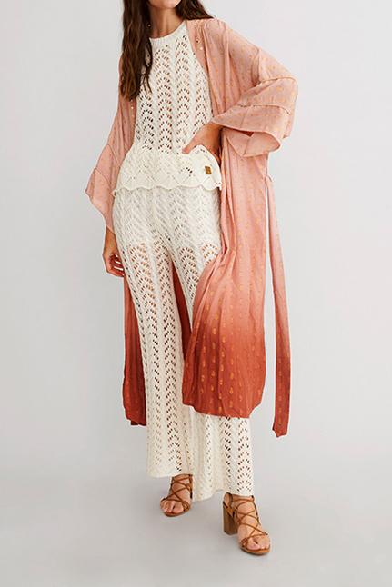 Ibias Kimono In Tie Dye Degrade Print