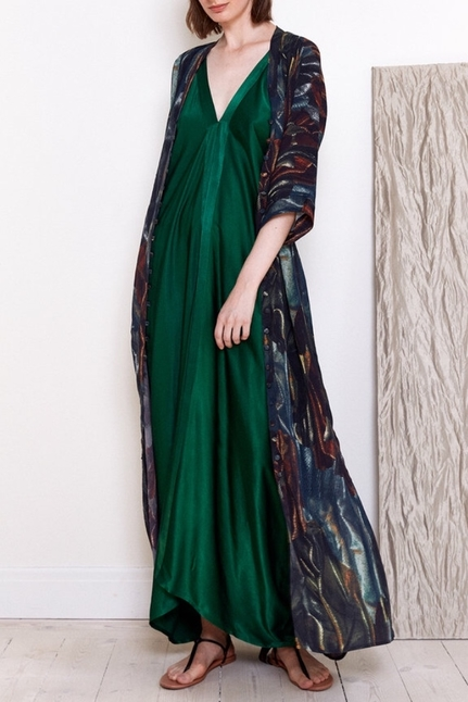 Long Strap Dress Green