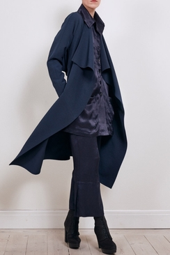 Long Jacket Navy Crepe