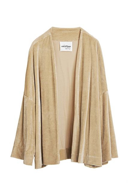 Chenille Jacket With Flared Sleeves