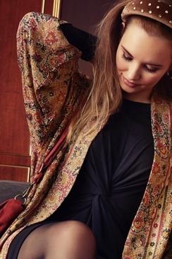Luna Reversible  Long Kimono