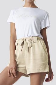 Satin Belt Shorts