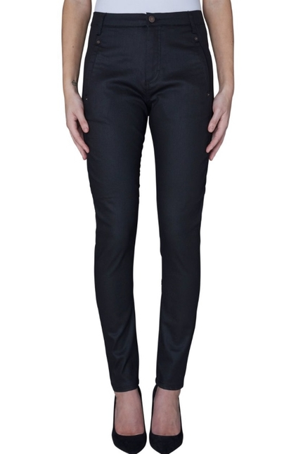 Jolie Navy Coated Pants