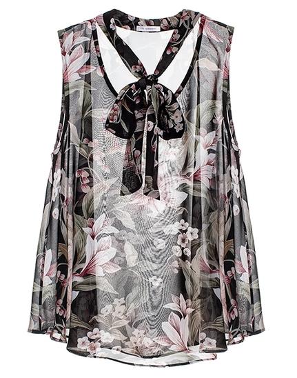 Amelie Top Black Floral