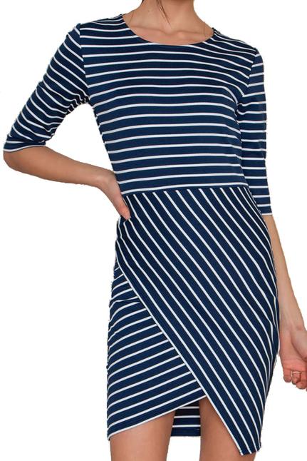 Lisa Dress Blue Stripe