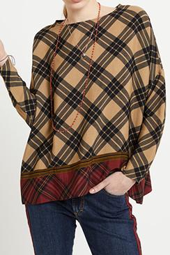 Tartan Viscose Sweater