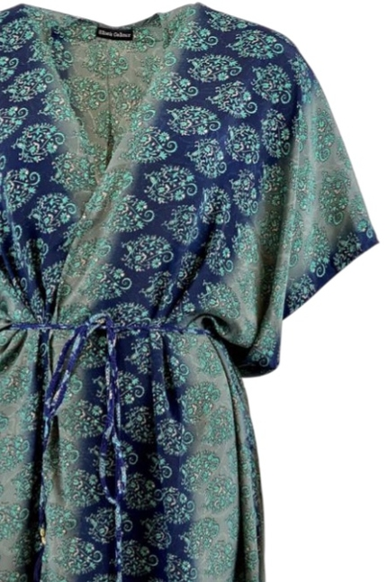 Luna Midnight Blue Kimono Dress