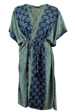 Luna Midnight Blue Kimono Dress