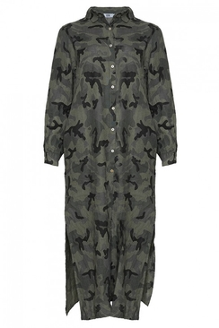 Tiffany Long Dress Linen Camo