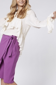 White Frill Blouse