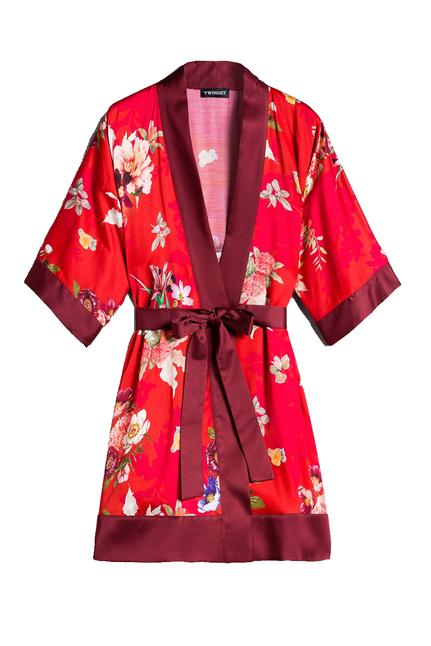 Long Satin Kimono