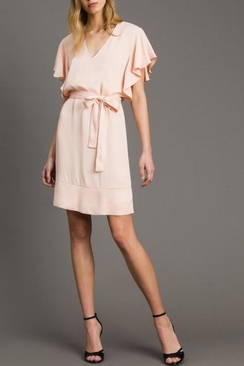 Satin Dress With Belt