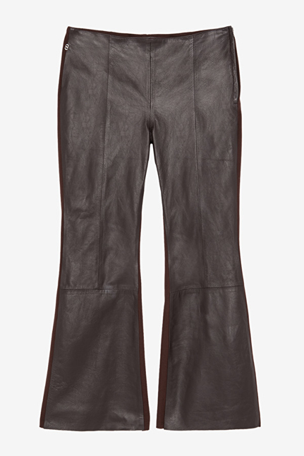 Leather Flare Trousers