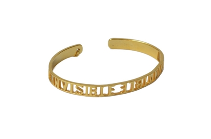 Invisible Invicible Bracelet Gold